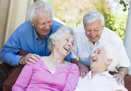 Group of older people laughing