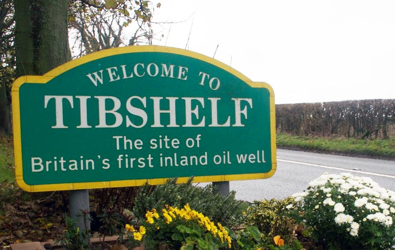Welcome to Tibshelf sign